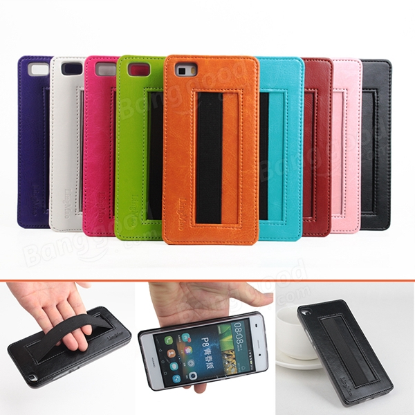 9 Color PU Leather Protective Back Cover Case For HUAWEI P8 Lite