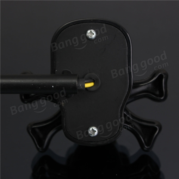 Universal 12V Motorcycle Skull Turn Signal Indicator Light Amber