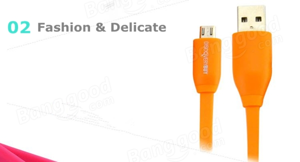 DiscoveryBuy 1M Flat Micro USB Charging Date Cable For Cellphone