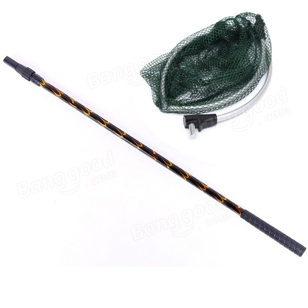 Telescopic fishing net aluminum pole foldable folding for Fishing net for sale