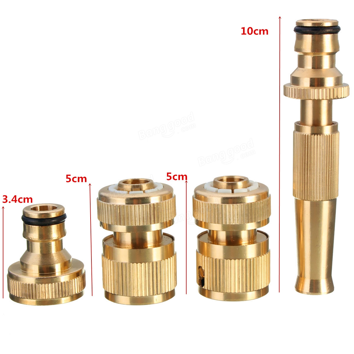 Pcs brass hose pipe connector irrigation tools garden tap