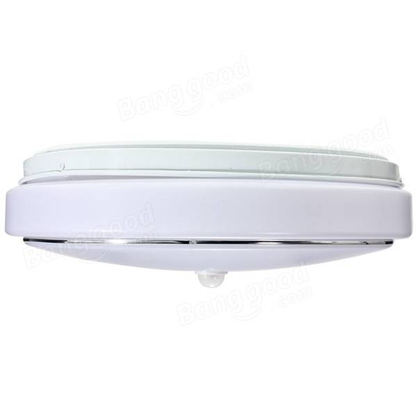 Ceiling Mounted Motion Sensor Lights: 12W PIR Infrared Motion Sensor Flush Mounted LED Ceiling