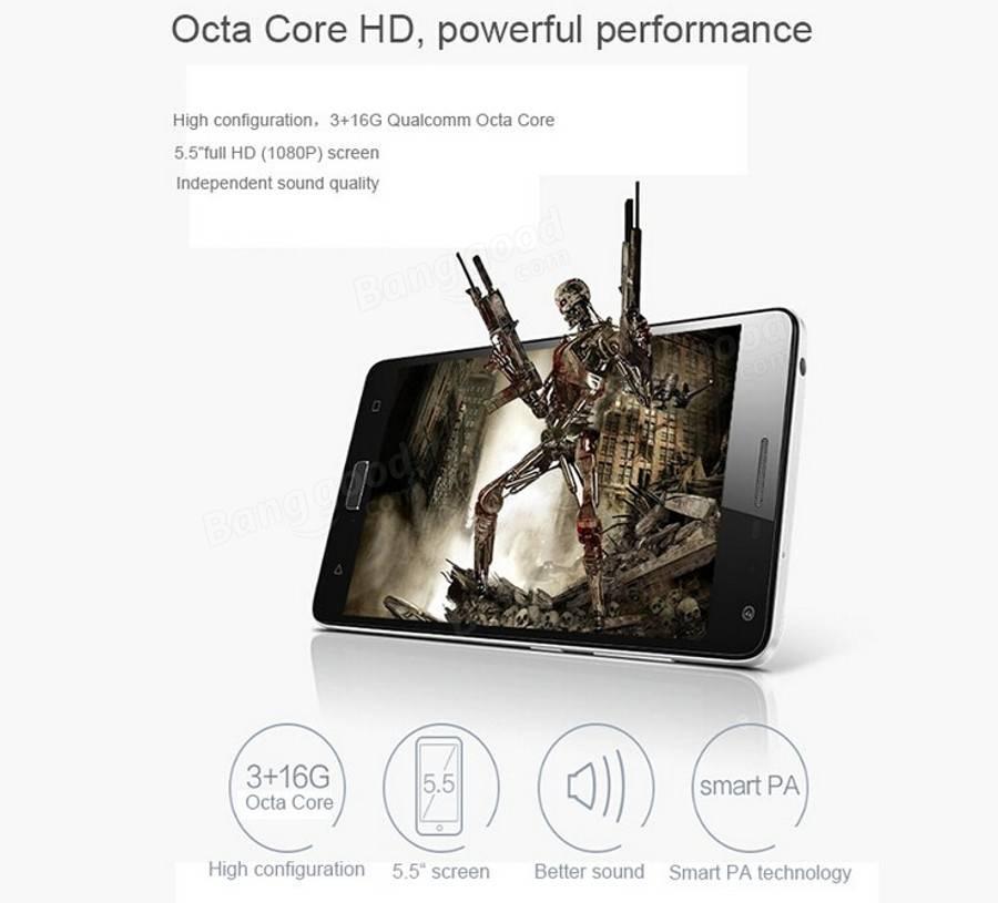 Lenovo vibração p1 5.5 polegadas 3GB de RAM msm8939 1.5GHz octa-core de smartphones