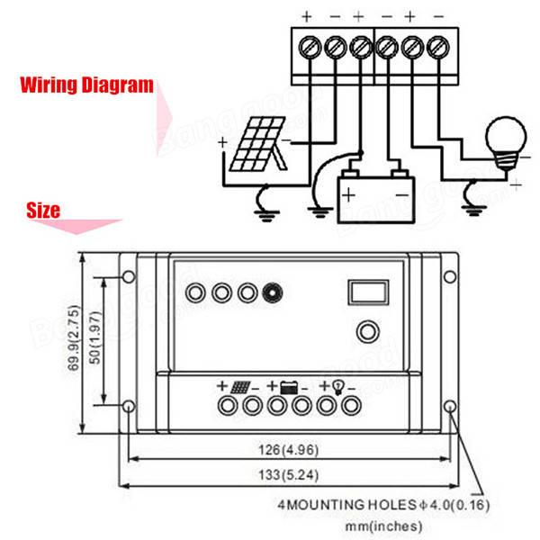 Intelligent 30A PWM Solar Panel Charge Controller Auto Battery Regulator  sc 1 st  Banggood : solar panel charge controller wiring diagram - yogabreezes.com