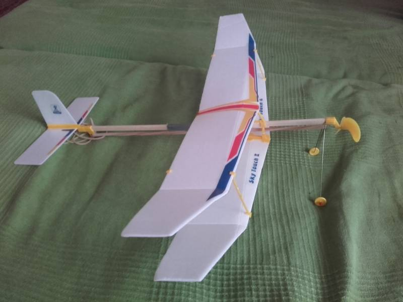 Glider Rubber Band Elastic Powered Flying Plane Airplane