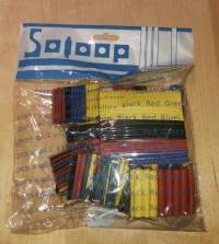 Soloop 328pcs 2:1 Polyolefin Halogen-Free Heat Shrink Tube Sleeving 5 Color 8 Size