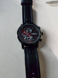 Curren Fashion Leisure Sport Man Leather Black Alloy Analog Quartz Wrist Watch