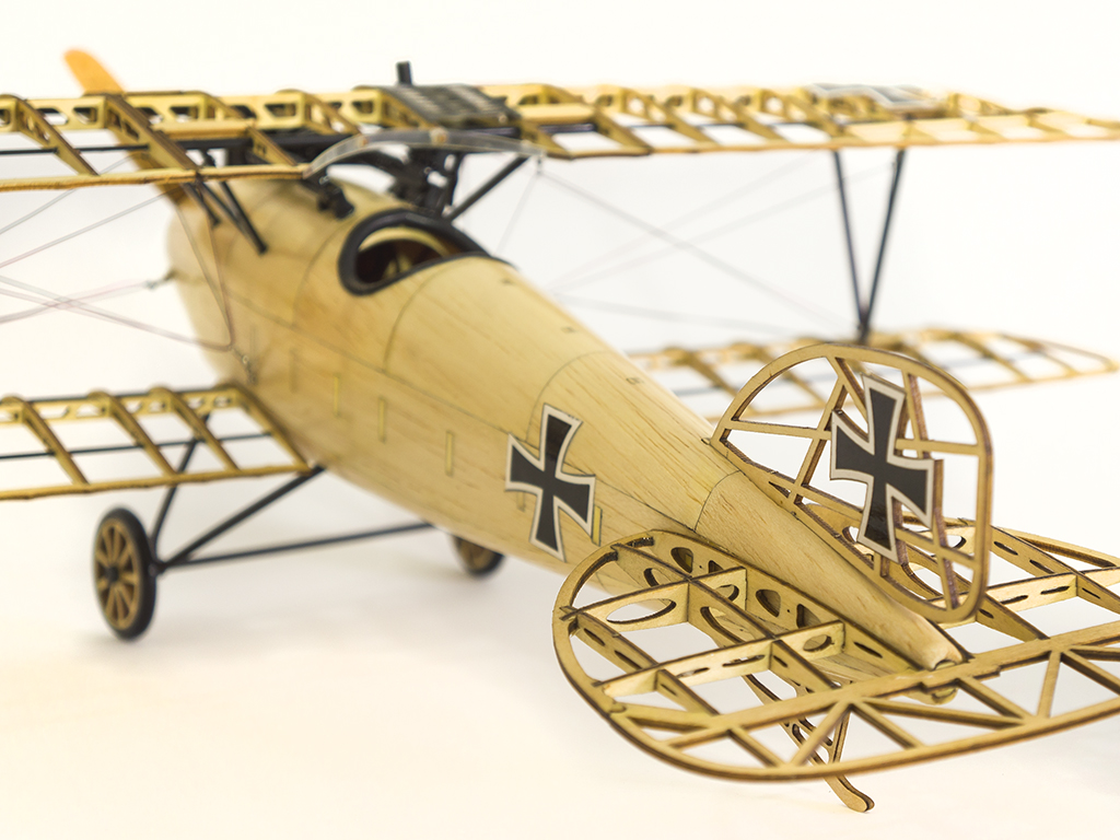 Albatross D.III German Fighter 492mm Wingspan Balsa Wood Airplane Handicrafts Decoration