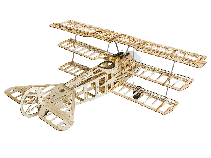 Fokker Dr.I 770mm Wingspan Balsa Wood Triplane Warbird RC Airplane KIT