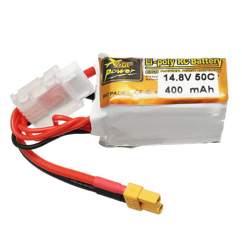 ZOP Power 14.8V 400mAh 50C 3S Lipo Battery XT30 Plug
