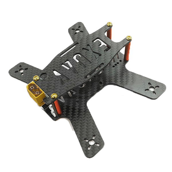 46g 133mm Wheelbase 3K Carbon Fiber FPV Racing Frame with LED Buzzer