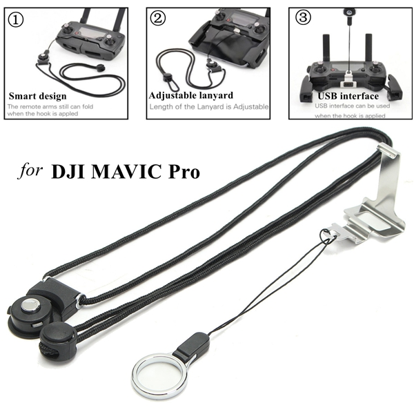 Remote Controller Clasp Length Adjustable Lanyard Neck Sling For DJI MAVIC PRO