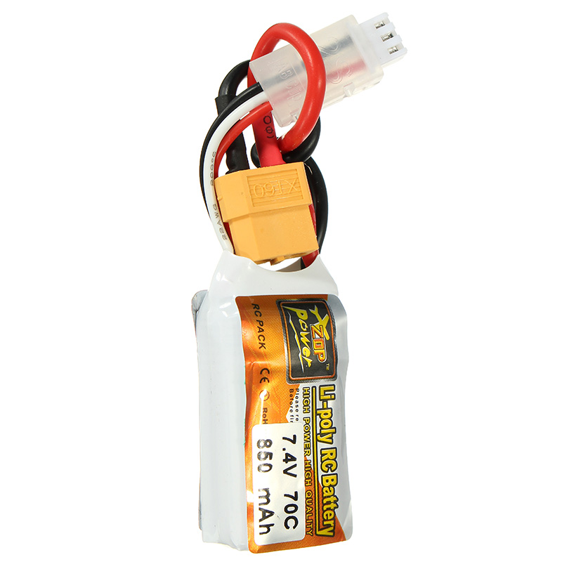 ZOP Power 7.4V 850mah 70C 2S Lipo Battery XT60 Plug For RC Model