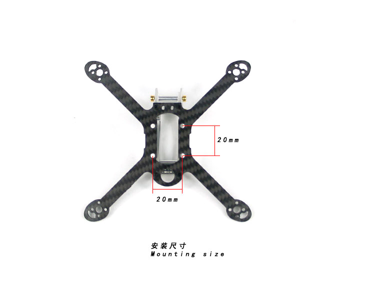 Kingkong FLYEGG 100 KIT 100mm Carbon Fiber Frame Kit with 7075 Aluminum 4 Pairs 1935 Propeller