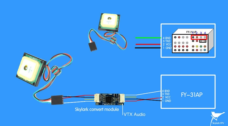 Skylark AAT Converter For All OSD Flight Controller NEMA GPS Support GPS Data Transmission