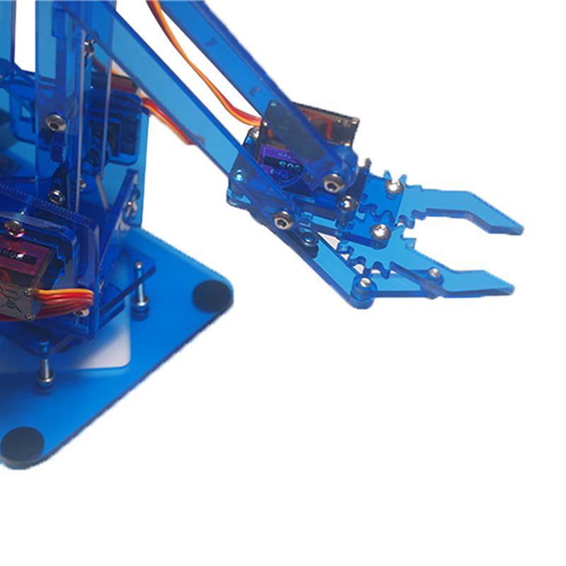 Mearm DIY 4DOF Arduino Robot Arm 4 Axis Rotating Kit With Joystick Button Controller 4pcs Servo