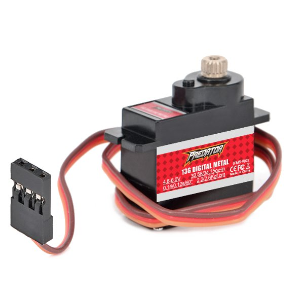 FMS Predator 13g Full Metal Servo Analog Digital Optional For RC Airplane