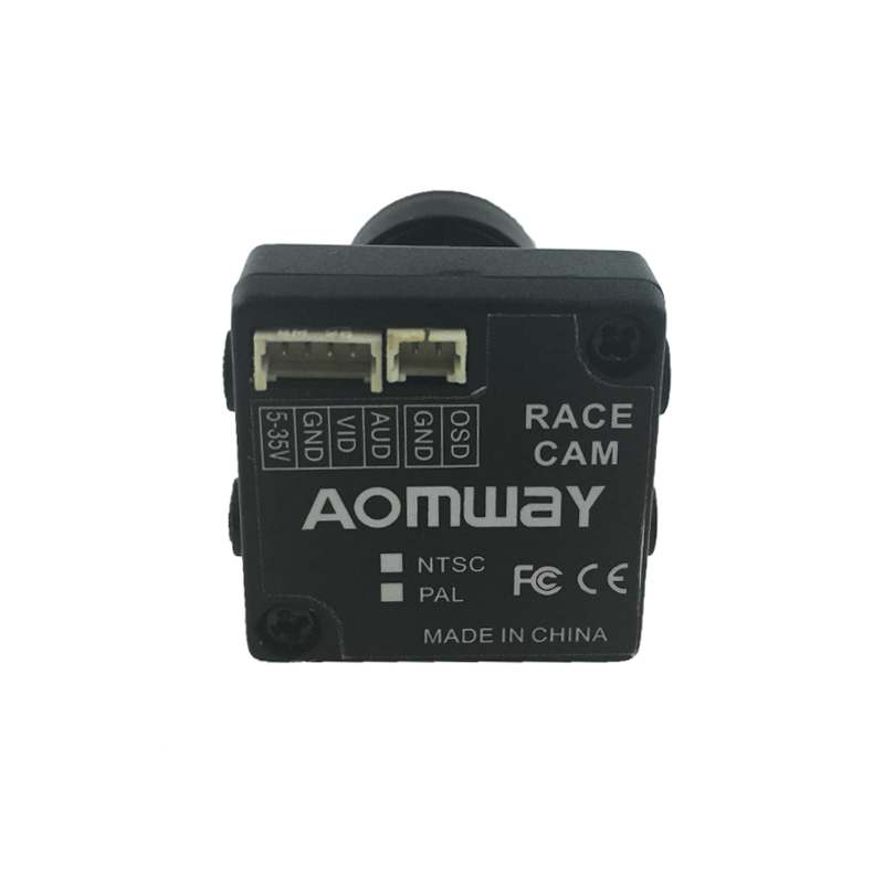 Aomway 1/3 CCD 650TVL 2.8mm FOV 100 Degree with OSD MIC AV FPV Camera PAL NTSC 22mm*22mm