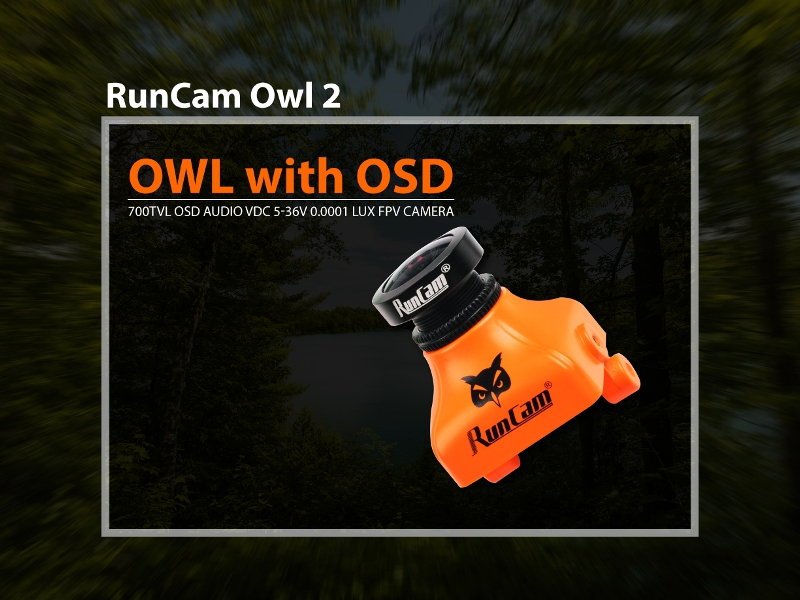Runcam OWL PLUS 2 OWL2 Camera Build in OSD 1/2 700TVL FOV 150 Degree PAL/NTSC DC5V-36V