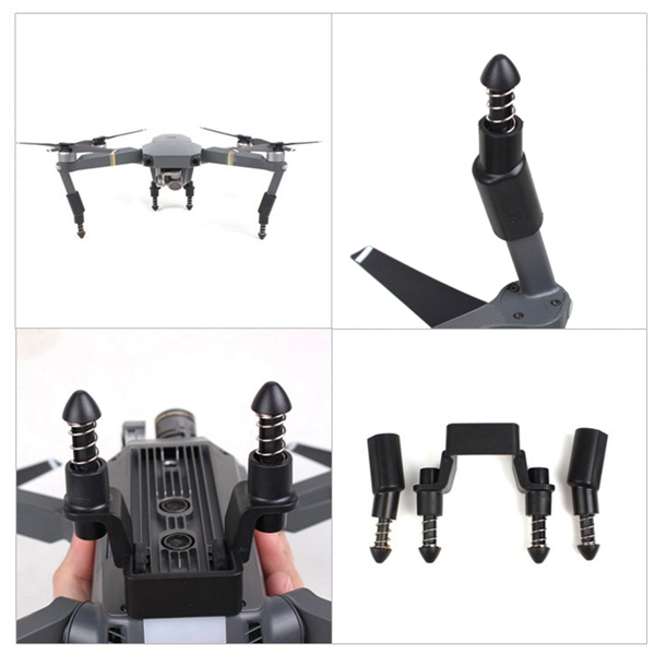 Spring Shock-absorbing Heightened Landing Gear Skid Extension Support Kit For DJI Mavic Pro