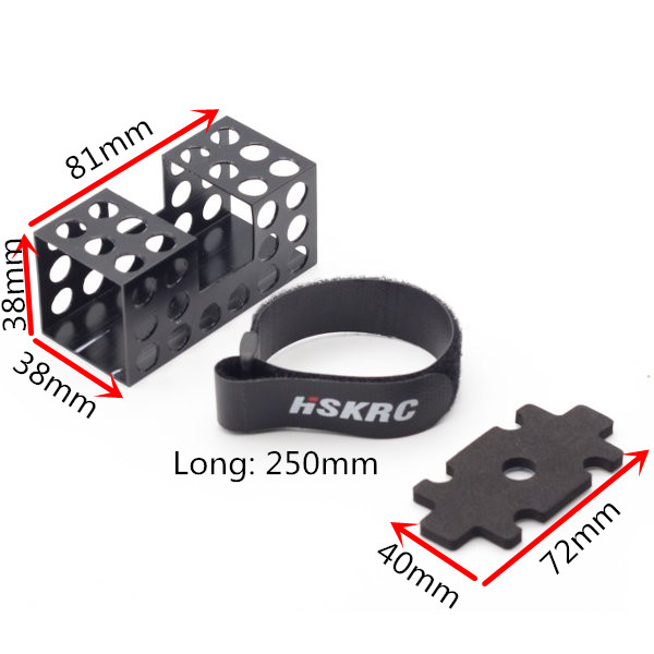 Aluminum Alloy Lipo Battery Protection Case for X Structure FPV Racing Frame