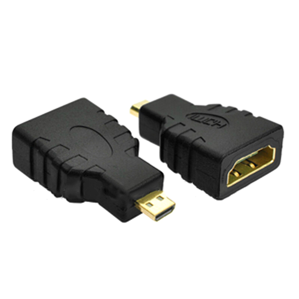HDMI 1.4 Micro HDMI-D Male to Standard HDMI-A Female Connector Adapter Support 3D WiFi For HD Image