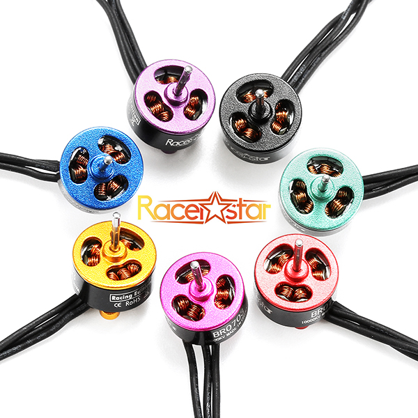 20X Racerstar Racing Edition 0703 BR0703 10000KV 1-2S Brushless Motor Purple For 60 80 100 FPV Frame