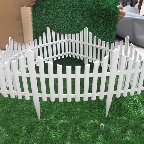 white plastic fences