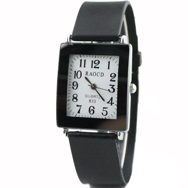 Rectangle Case Simple Casual Analog Quartz Couples Watch