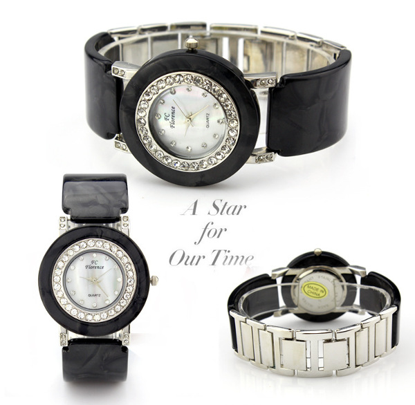 AMST 2388 Elegant Rhinestone Alloy Band Women Analog Wrist Watch
