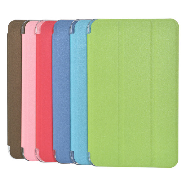 Buy Tri-fold Scrub PU Leather Case Cover For Samsung T230 Tablet