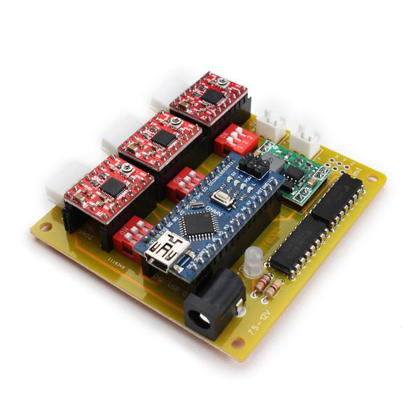 Usb cnc 3 axis stepper motor driver board controller for for Usb stepper motor controller