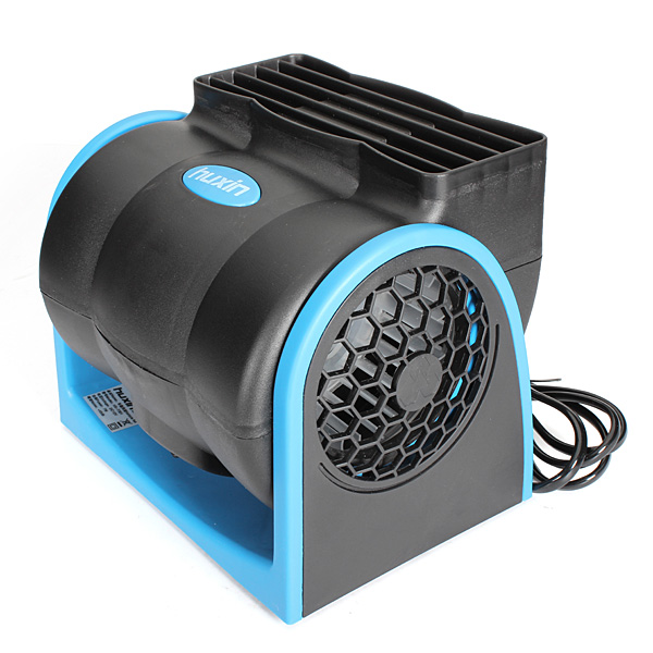 DC12V 7W Mini Electric Fan Double Wind Wheels for Car Truck Vehicle Air Conditioning