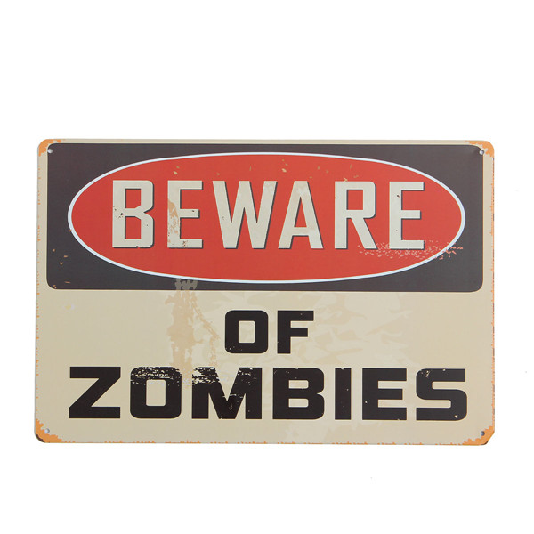 Zombies Sheet Metal Drawing Metal Painting Vintage Tin Wall Home Poster Sign