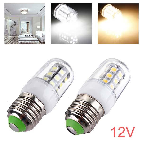 e27 led bulbs 12v 3w 27 smd 5050 white warm white corn light. Black Bedroom Furniture Sets. Home Design Ideas