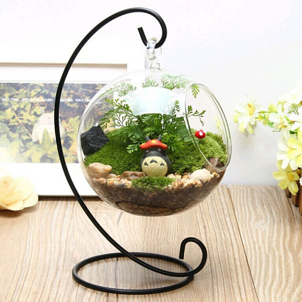 Micro landscape suspension c shaped hob iron rack garden for Plante xiaomi