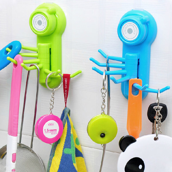 Vacuum Suction Cup Sucker Wall Window Bathroom Kitchen Hanger Hooks