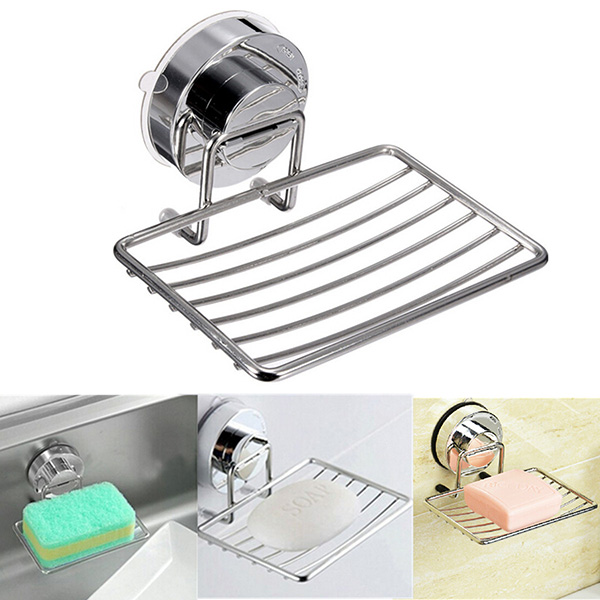 Shower Soap Dish Holder Bath Shower Tray With Suction Cup