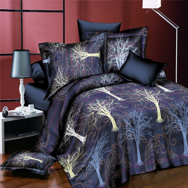 4pcs Suit 3D The Tree Of Life Reactive Dyeing Polyester Fiber Bedding Sets Queen King Size