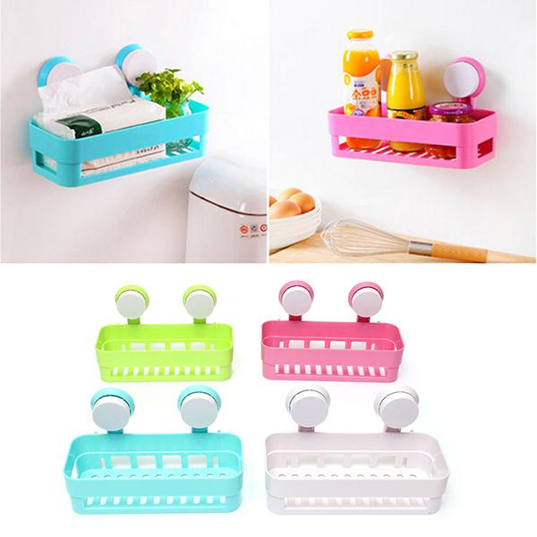 Bathroom Storage Basket Sundries Holder Kitchen Shelf R