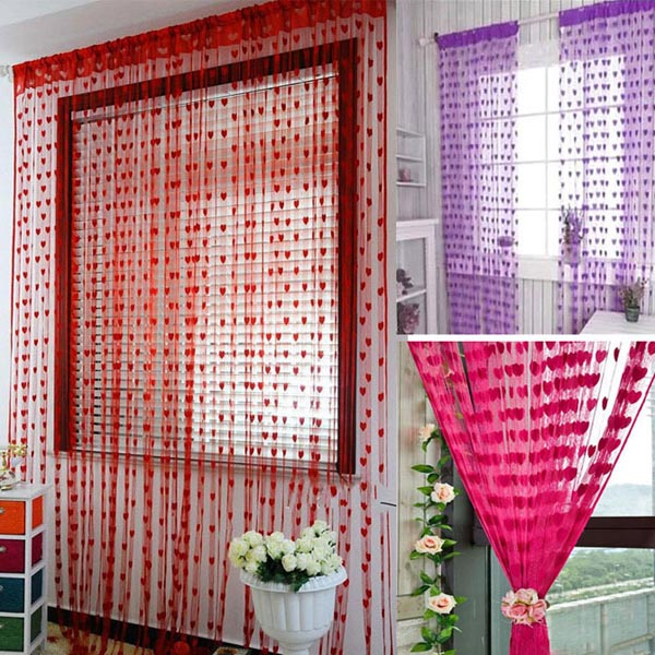 Beautiful Tassel Heart Shaped Door Window Curtain Home Decorations