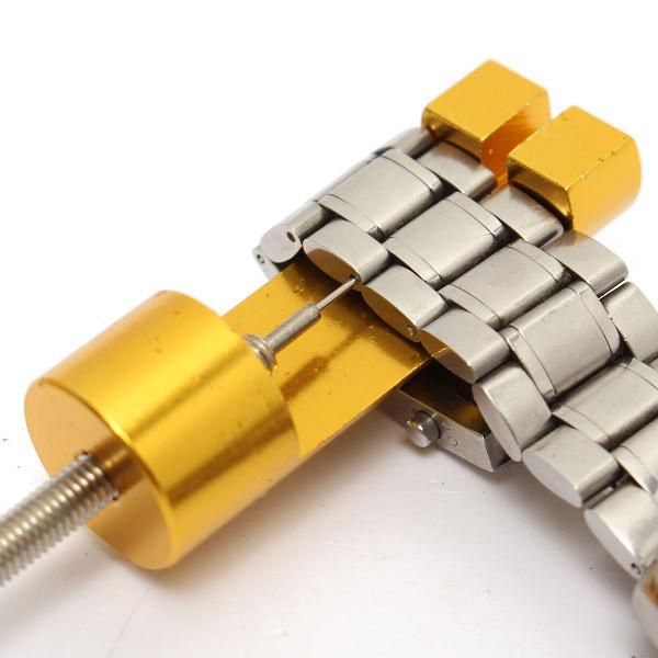 Gouden Kleur Metaal Horlogeband Aanpassingsband Strap Link Pin Remover Reparatie Gereedschap