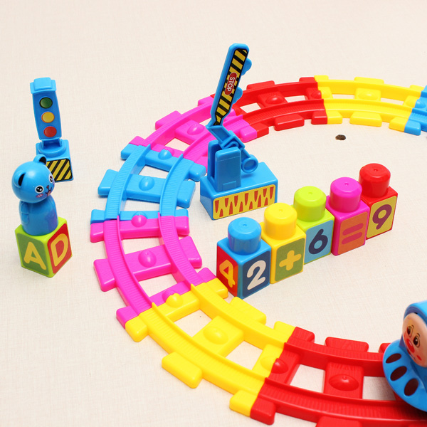 Children Kids Music Rail Car Electronic DIY Development Toy