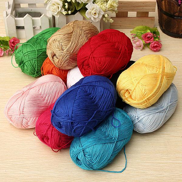 12Color Fingering Knitting Yarn Smooth Woolen Cotton Bamboo Yarn te koop