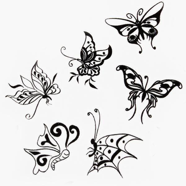 Butterfly Design Insect Waterproof Temporary Tattoo Sticker Paper US