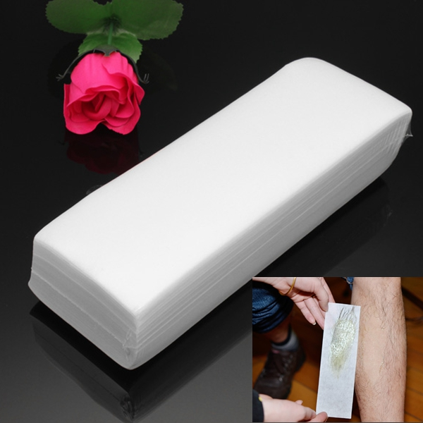 100Pcs Nonwoven Epilator Depilatory Wax Strip Paper Hair Removal