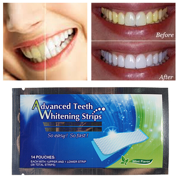 2 Packs Teeth Whitening Strips Home Dental Bleaching Whiter