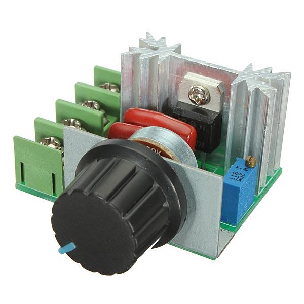 Buy 2000W 50V-220V Adjustable Voltage Regulator PWM AC Motor Speed Controller