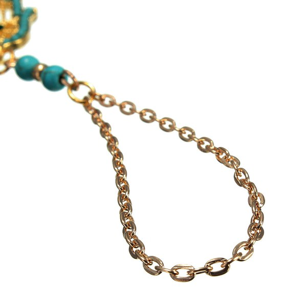 Turquoise Toe Ring Anklet