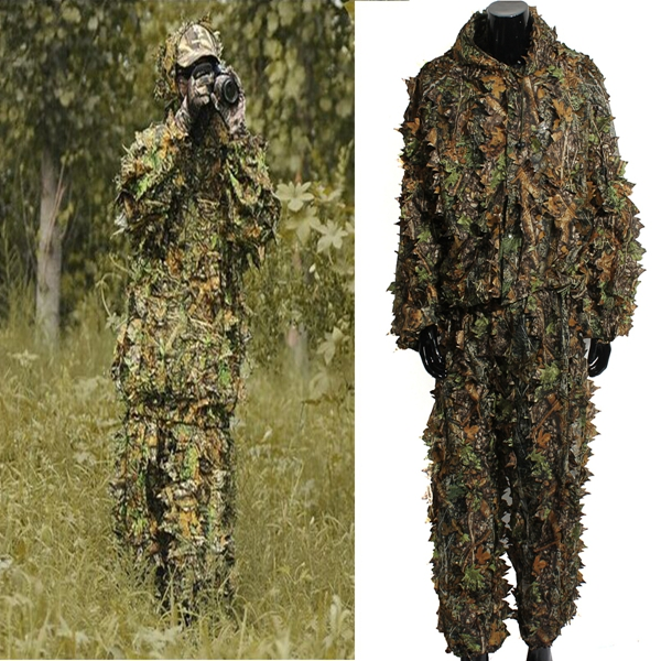 Buy Woodland Camouflage Clothing 3D Jungle Hunting Hide Leaf Suit Free Size Coat